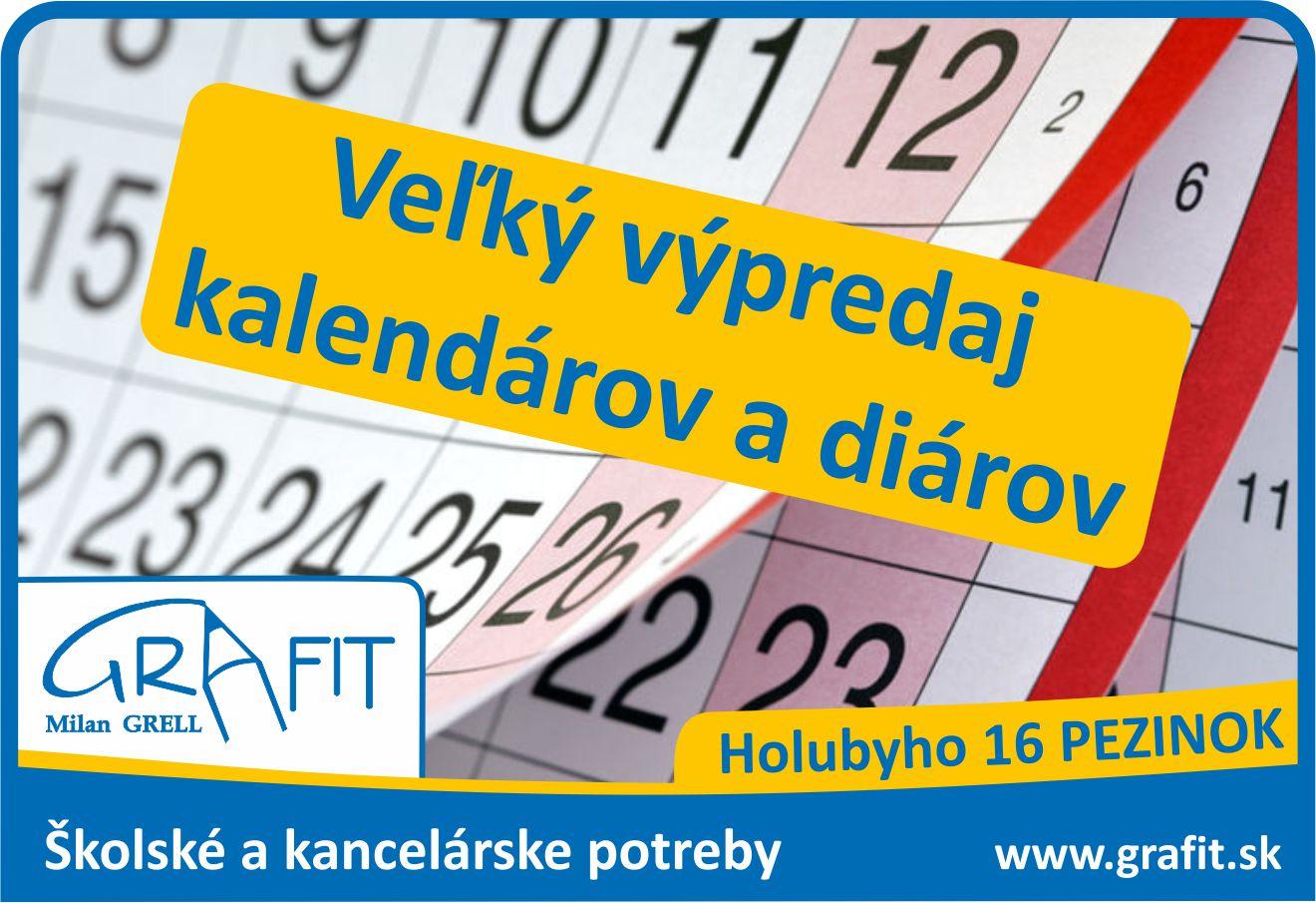 Grafit sortiment vypredaj kalendarov